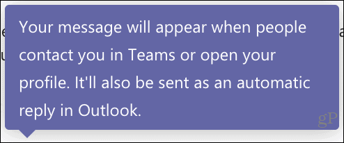 Microsoft Teams Out of office availability
