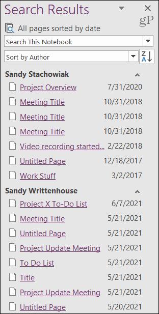 Recent Edits sidebar