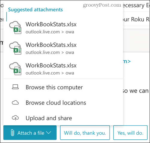 Attach a File reply