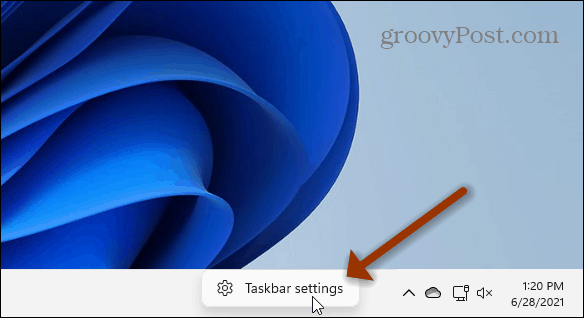 Taskbar Settings Windows 11