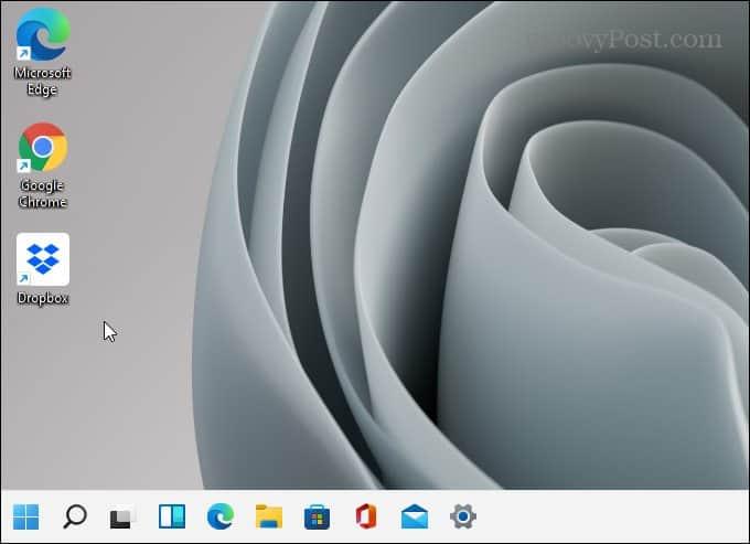 Taskbar on the left of the screen Windows 11