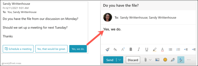Use a Suggested Reply