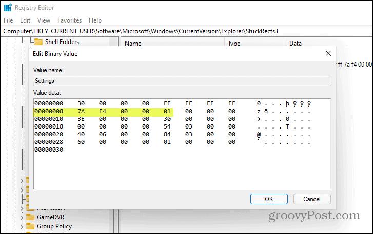 01-value-registry key