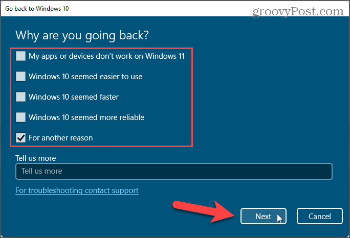 Reasons for going back to Windows 10
