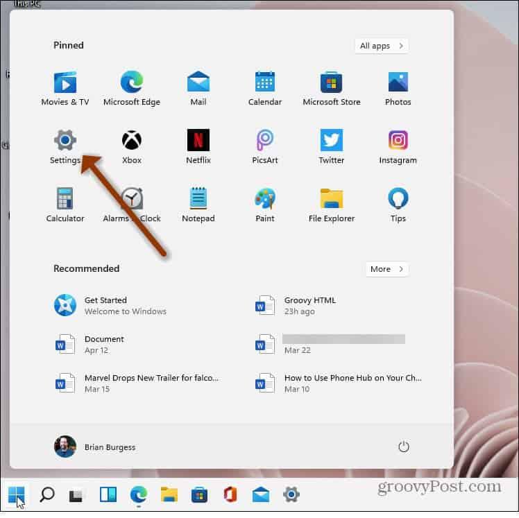 Start Menu Settings Windows 11