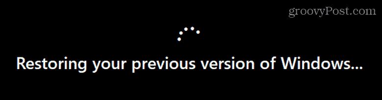 Restoring Windows 10