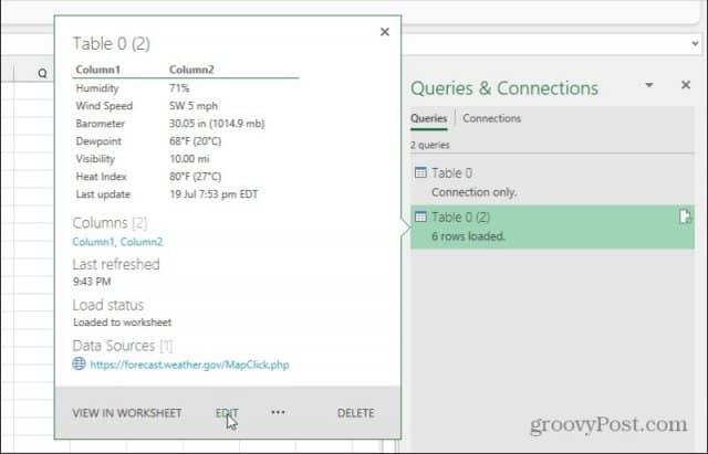 editing queries