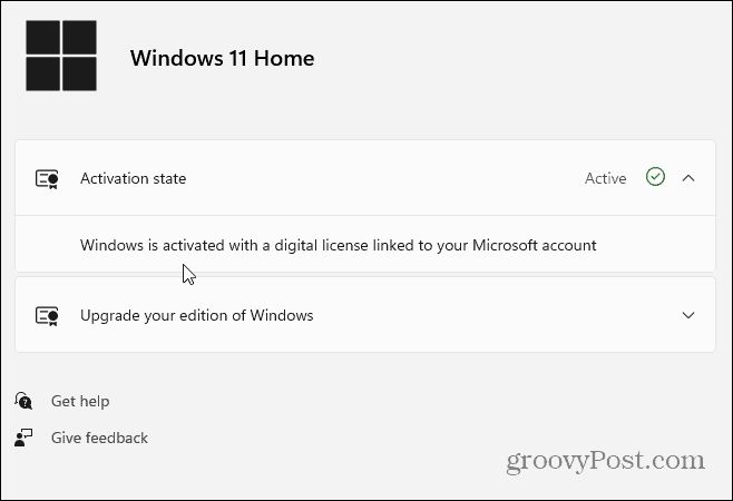 Activation State Windows 11