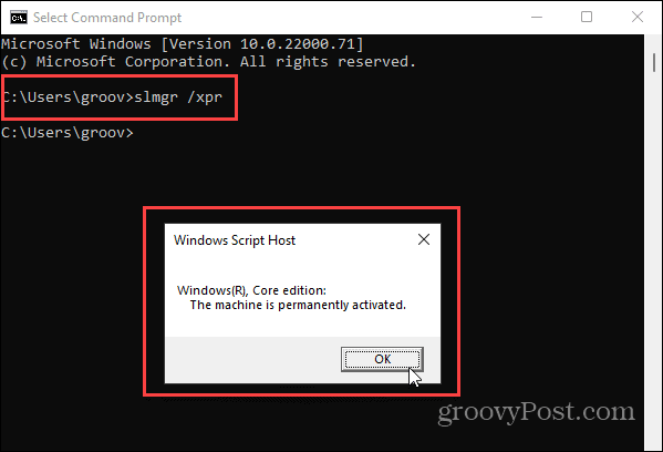 Command prompt Windows 11 Activataion