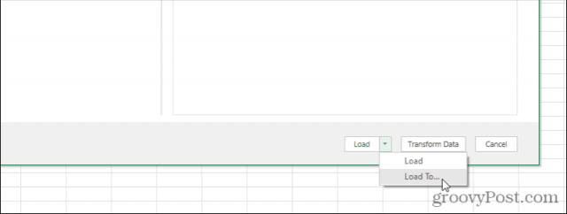 excel query load to