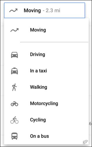 Change transportation method