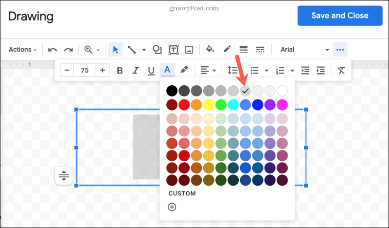 Change the text color