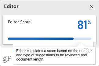 Editor Score