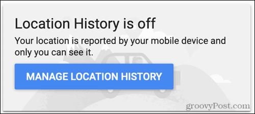 Click Manage Location History