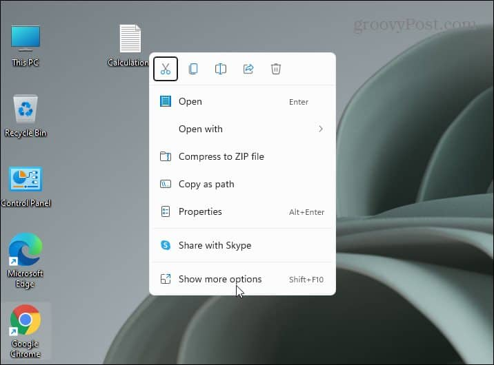 New Context menu Windows 11