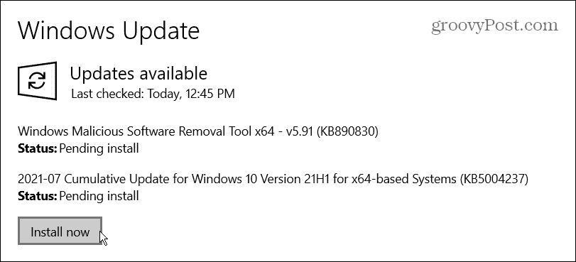 Patch Tuesday KB5004237