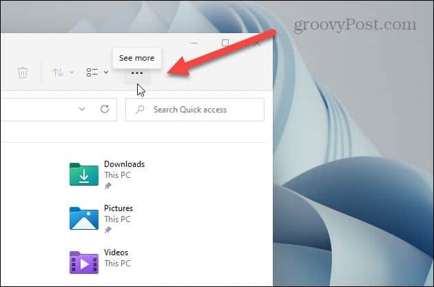See More Button File Explorer Windows 11