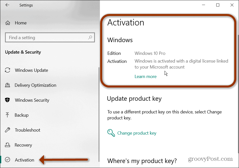 Win 10 activation