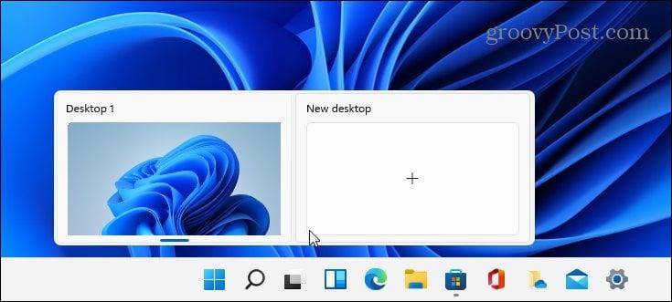 Virtual Desktop button Windows 11