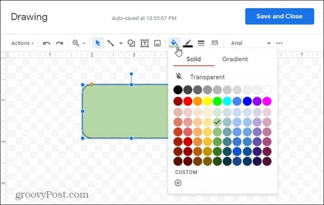 fillable color