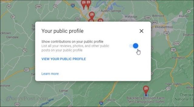 enable public profile