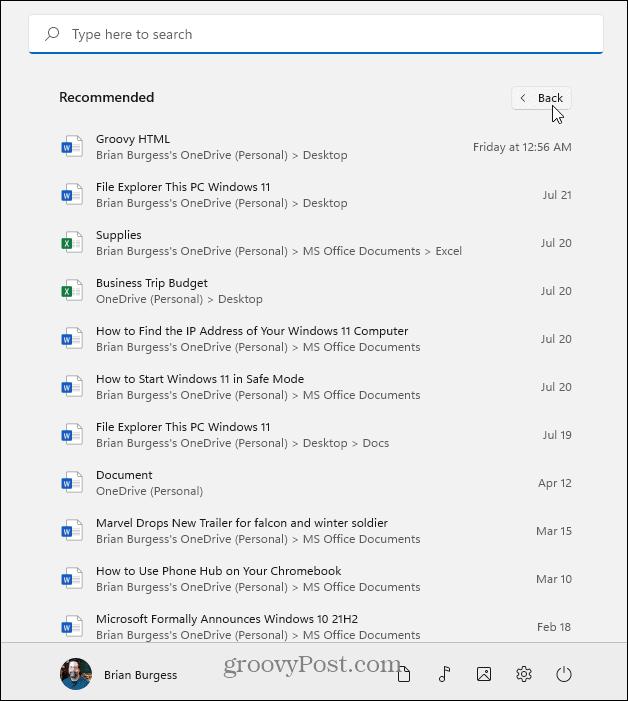 more items Start Windows 11
