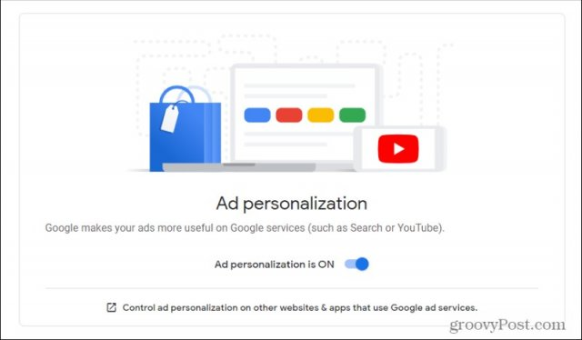 disable ad personalization