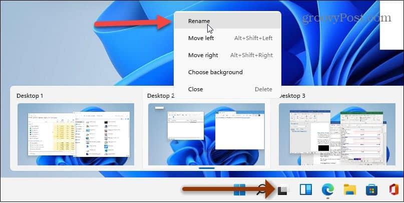 rename virtual desktops Windows 11