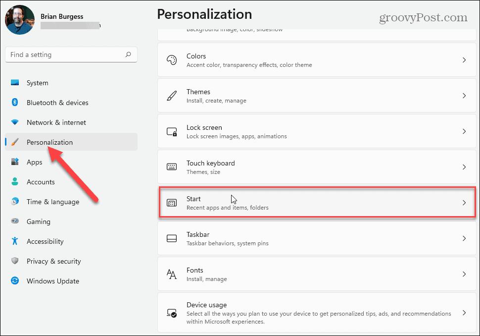 Start-Personalization-Windows-11