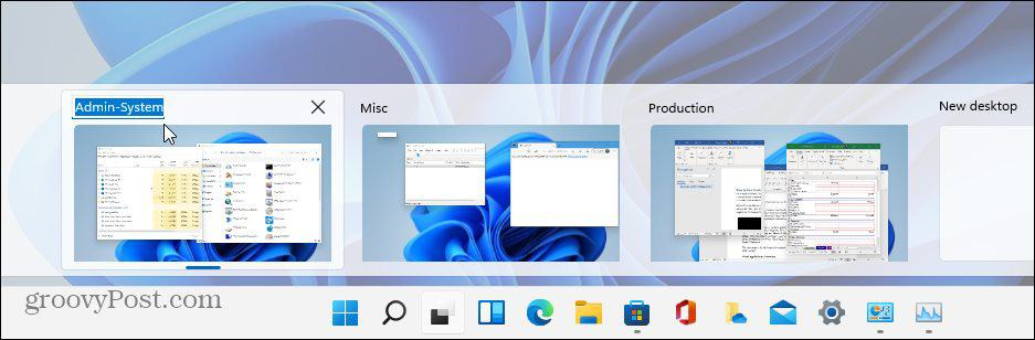 rename virtual desktop closeup Windows 11