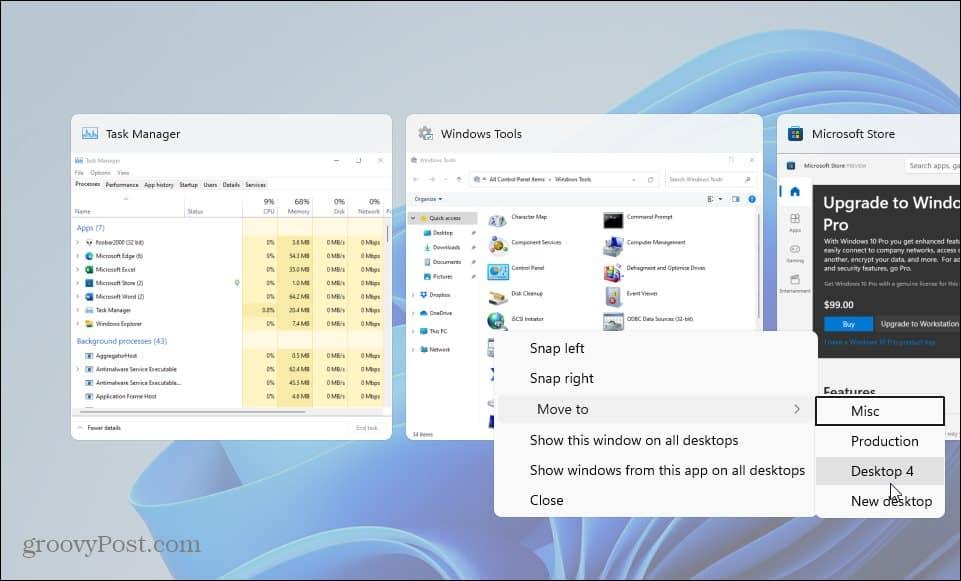 move window between virtual desktop windows 11