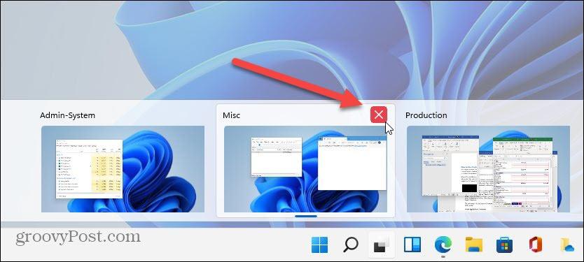 Close out of virtual desktop windows 11