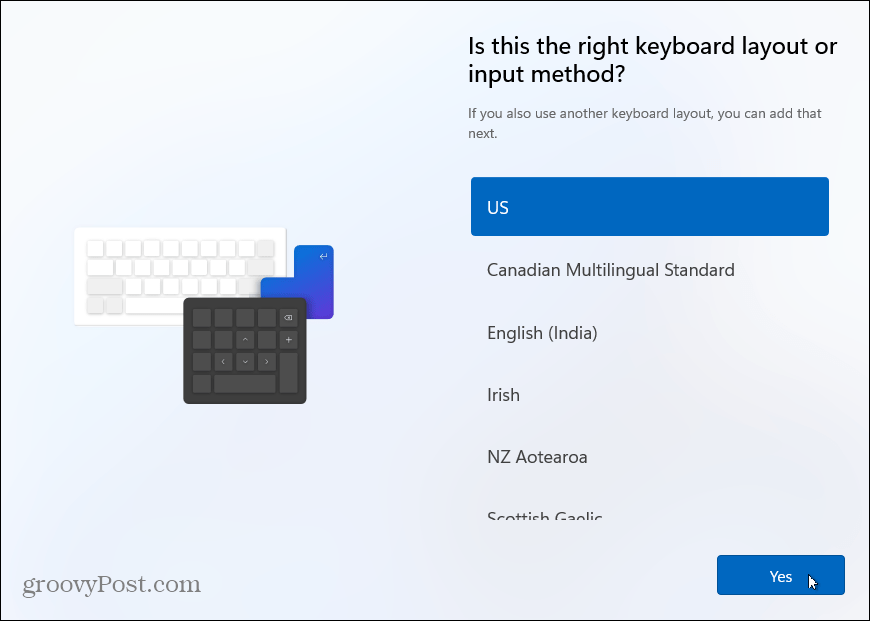 Keyboard layout install windows 11