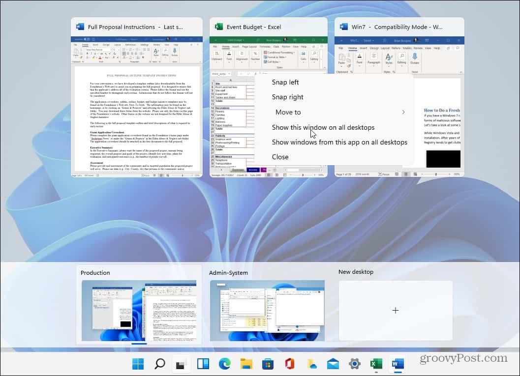 Virtual Desktops Windows 11