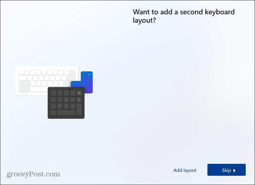 skip second keyboard layout
