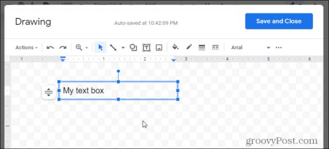 creating text box