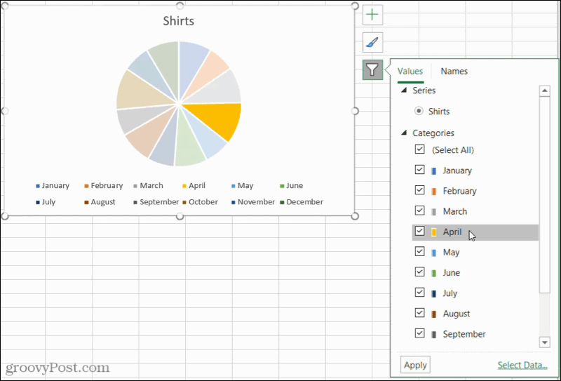 Pie Chart Filters