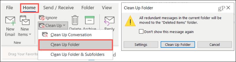 Clean Up a Folder