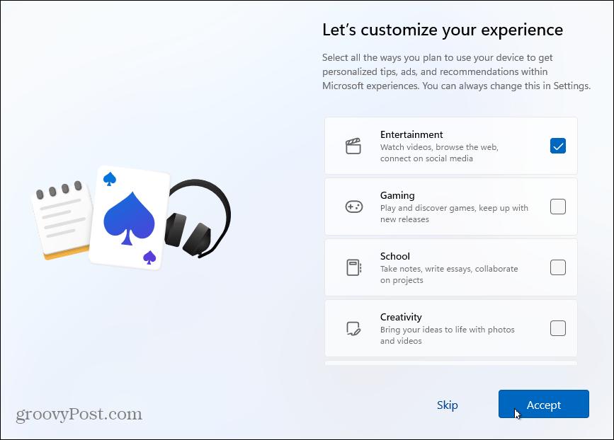 Customize Experience Windows 11