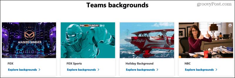 Microsoft Teams backgrounds website