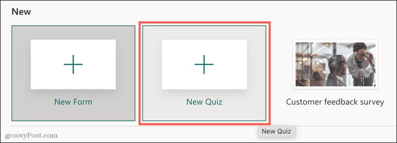 Microsoft Forms new quiz