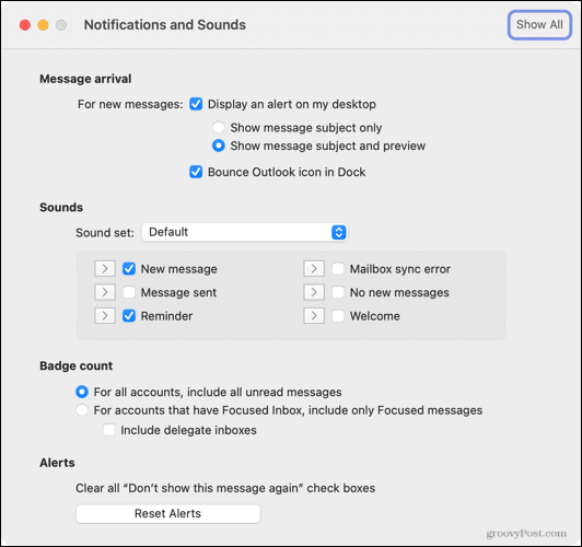 Adjust Notifications and Sounds