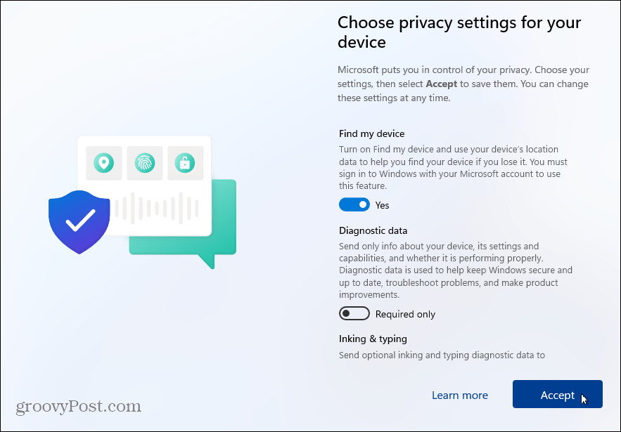 Privacy-Settings Windows 11