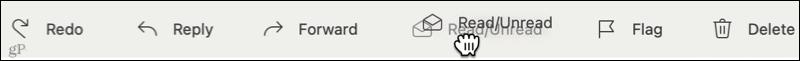 Rearrange the toolbar