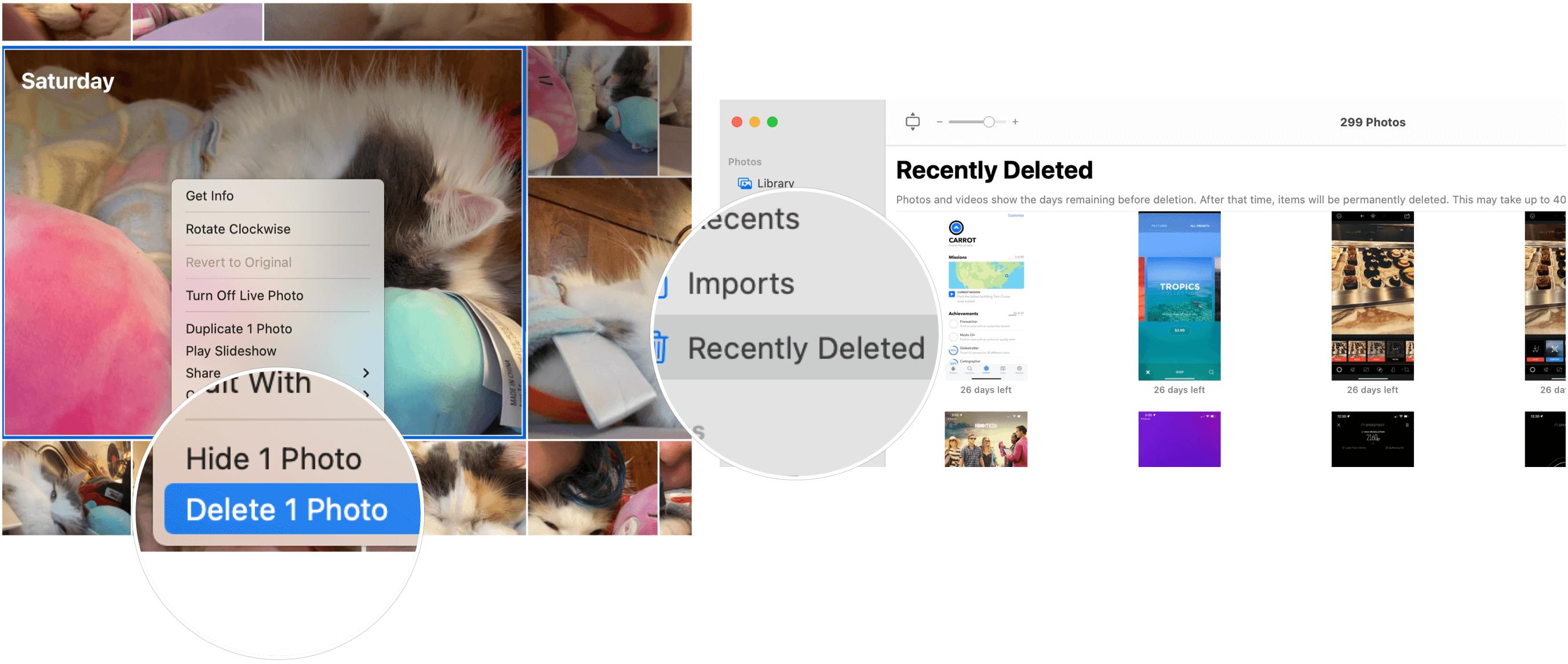 Delete photos on Mac