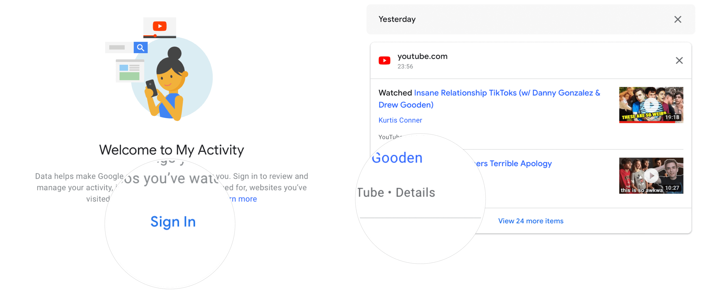 YouTube recommendations: delete videos