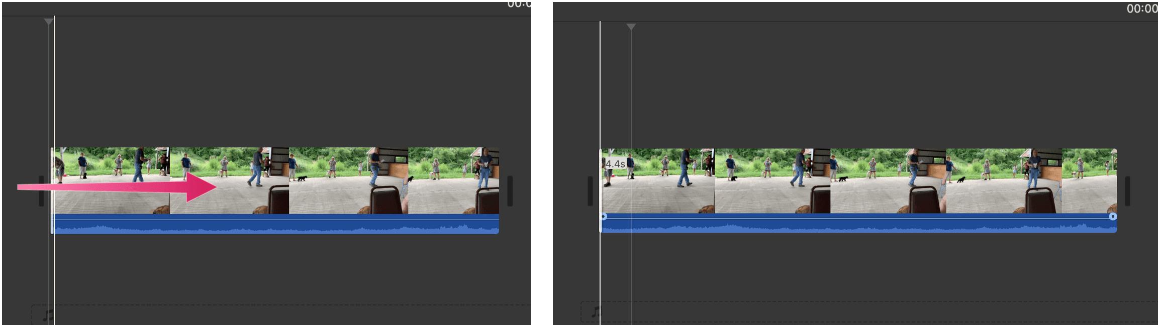 iMovie edit clip