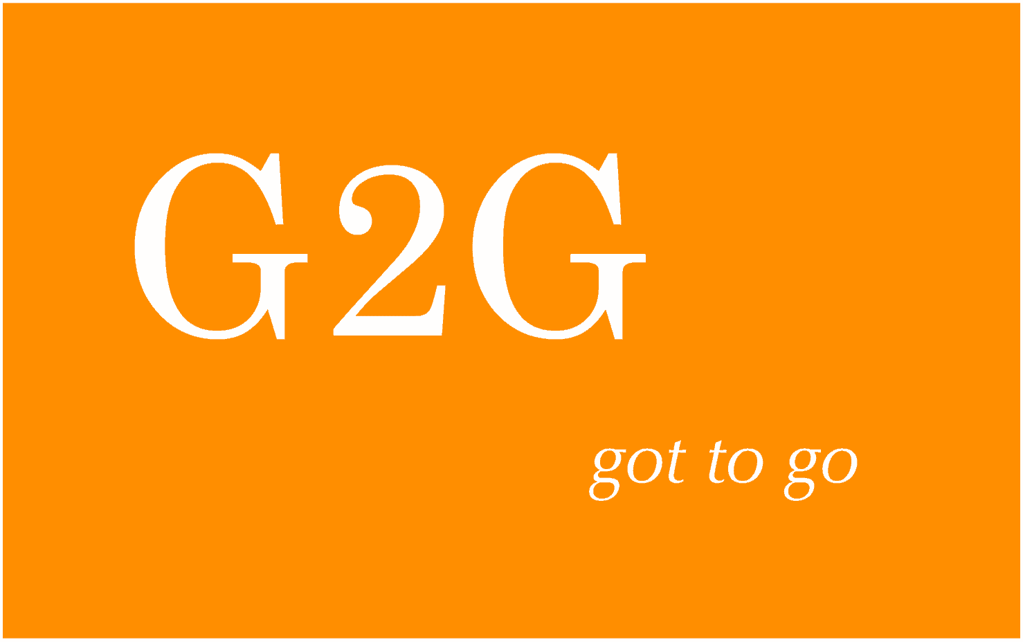 G2G meaning