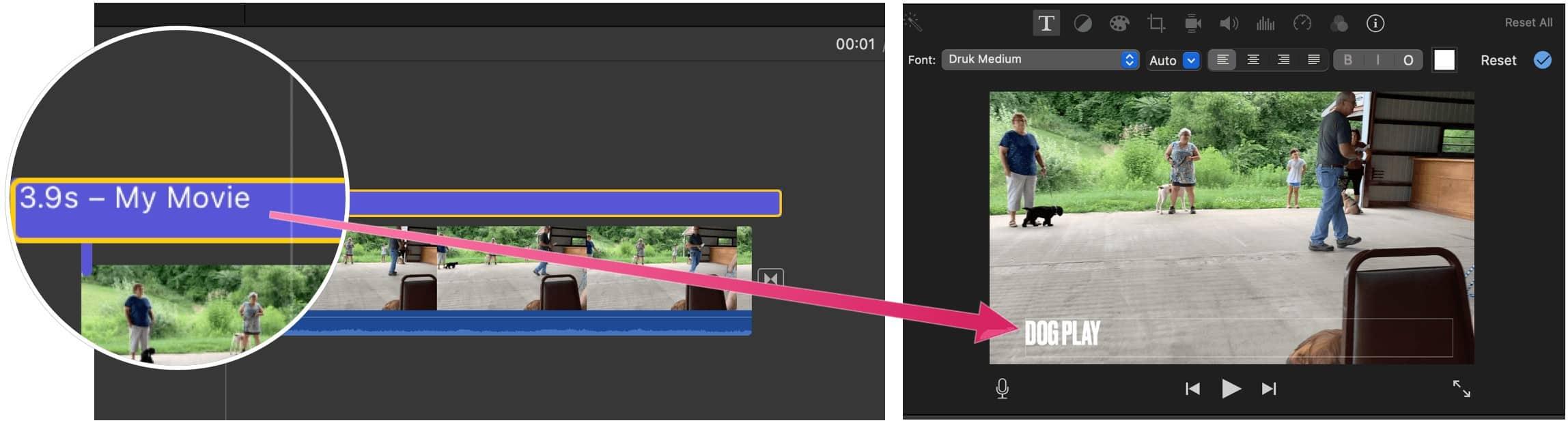 Editing Videos With iMovie iMovie title