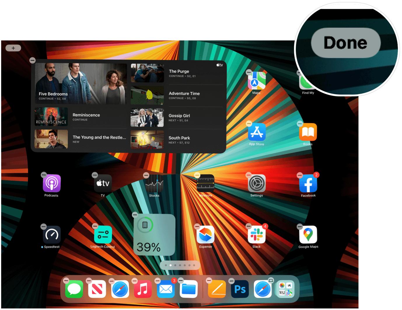 iPad add widget